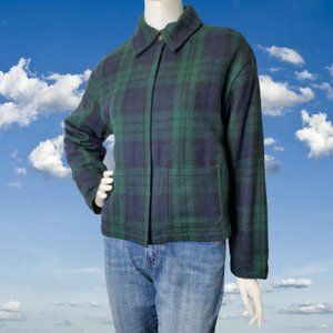 Fashion Bug 90s Wool Blend Plaid Boxy Jacket